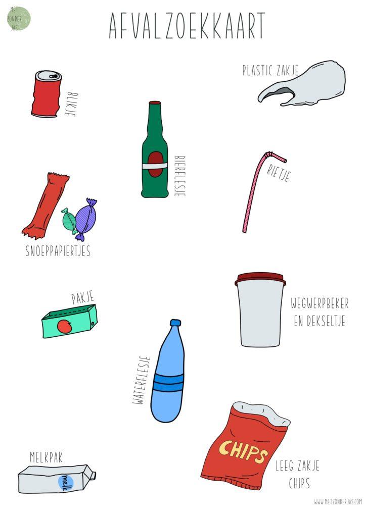Afval rapen met deze afvalzoekkaart.